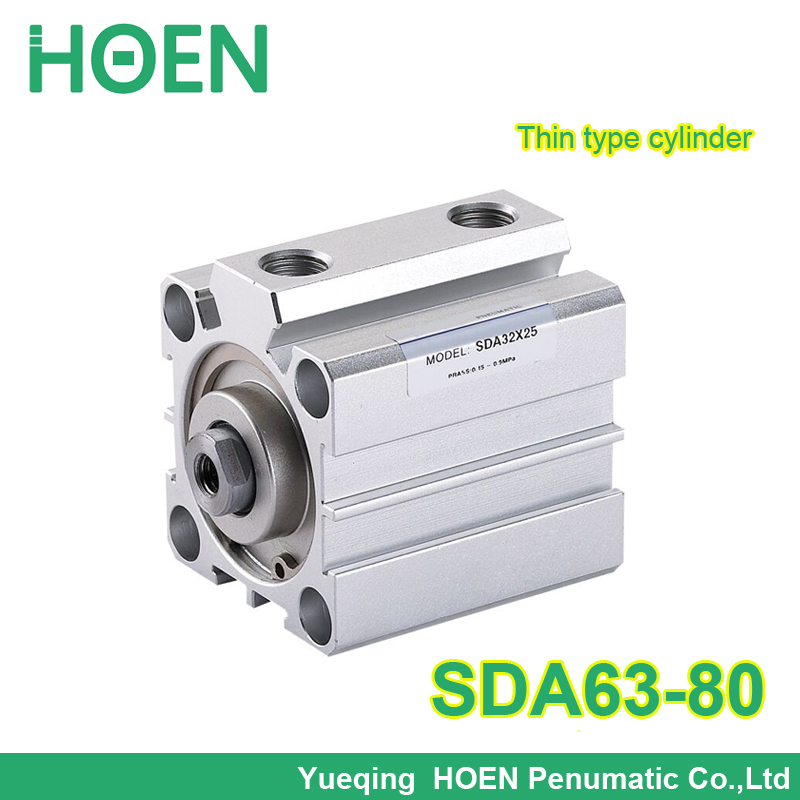 SDA63-80 Airtac type SDA series 63mm Bore 80mm Stroke Pneumatic Compact Air Cylinder SDA63*80 mgpm63 200 smc thin three axis cylinder with rod air cylinder pneumatic air tools mgpm series mgpm 63 200 63 200 63x200 model