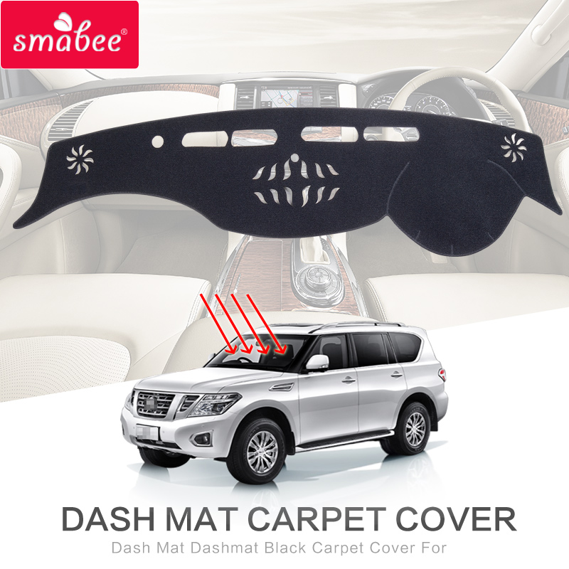 smabee Dash Mat Dashmat Black For NISSAN PATROL Y62 Carpet Cover Insulation mat Automotive interior dashmat original dashboard cover buick skyhawk