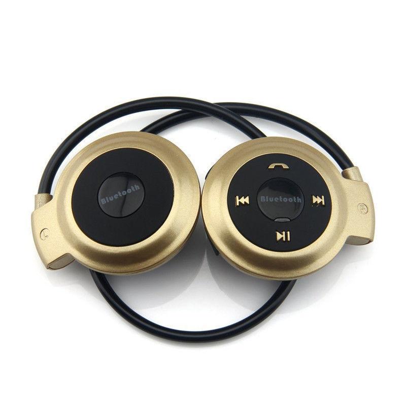 MINI-503 Wireless Bluetooth Headset Headphone Sport Stereo Earphone Gold mp3 player running earphone hifiman bluetooth headphone