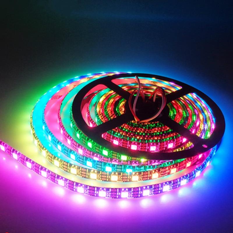 WS2812B 3 м 96 пикселей/светодиодов/м умная светодиодная Пиксельная полоса WS2812 IC WS2812B/M IP30 белая печатная плата DC5V Подвесные лампочки      АлиЭкспресс