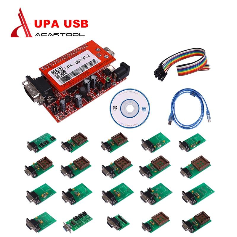 2018 Best UPA USB Programmer with full Adaptors upa usb programmer v1.3 auto Ecu Programmers upa usb programmer микола хвильовий наречений