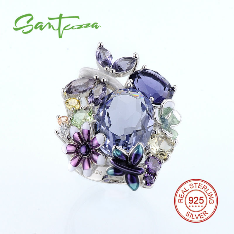 SANTUZZA Sølvring til kvinder Autentiske 100% 925 Sterling Sølv - Mode smykker - Foto 2
