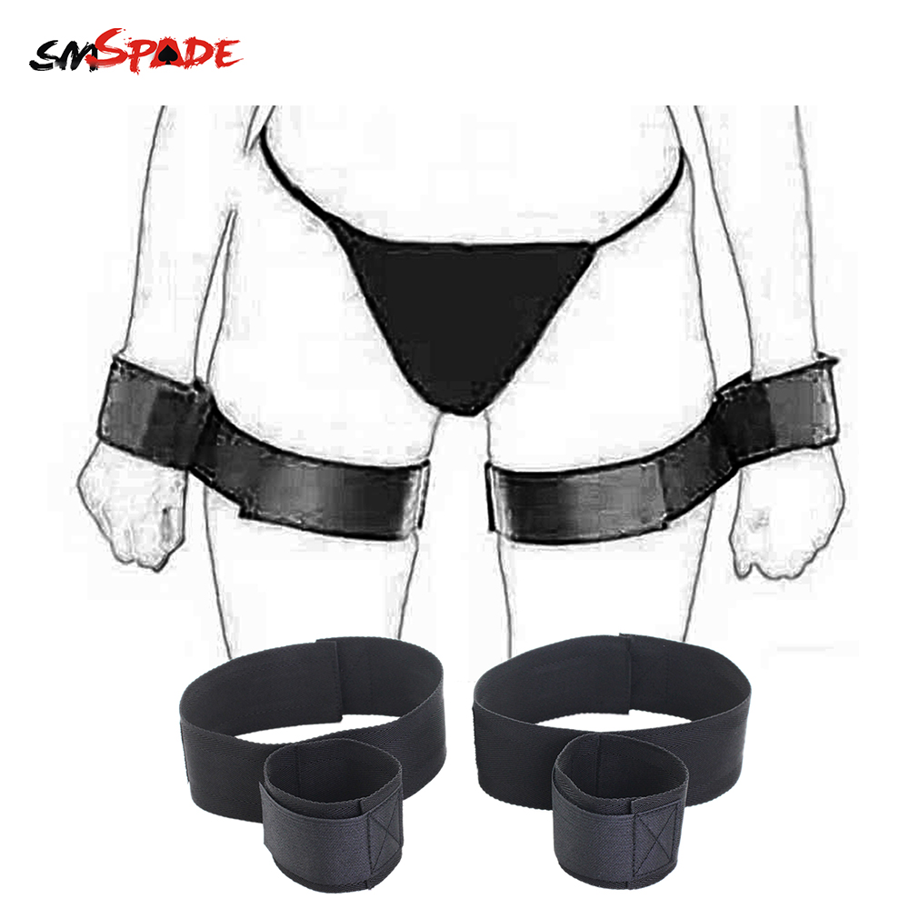 Smspade BDSM Adult Toys Sex Handcuff Wrist & Ankle Cuffs Adjustable Slave Fetish Sextoy Femme bdsm Restraints Handcuffed Sex Toy