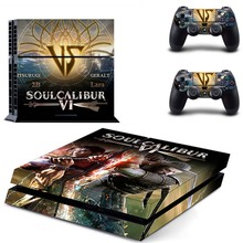 Soulcalibur VI Decals PS4 Sticker Vinyl Skin Kit for Sony Playstation 4 Console and Two Controllers