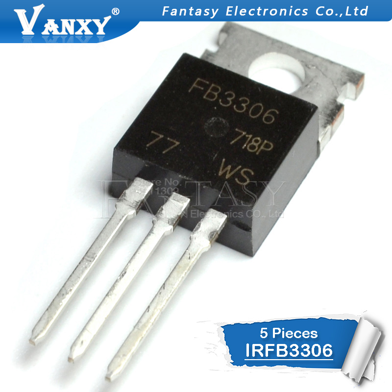 5pcs IRFB3306 TO-220 IRFB3306PBF TO220 IRF3306 60V 160A New Original