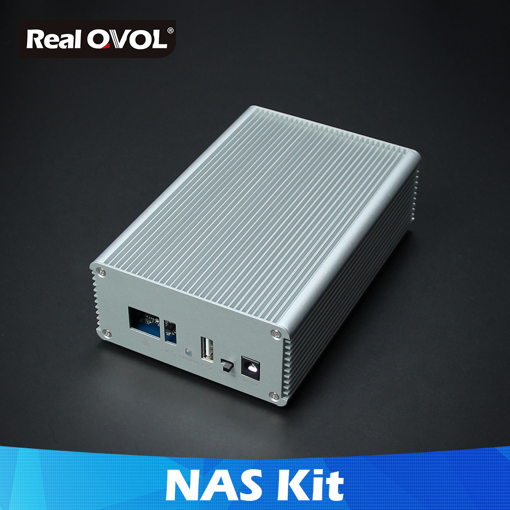 RealQvol FriendlyELEC NAS Kit Shell For NanoPi NEO/NEO2/PLUS2 Aluminum Case OpenMediaVault Ready NanoPi NEO/NEO2 Application