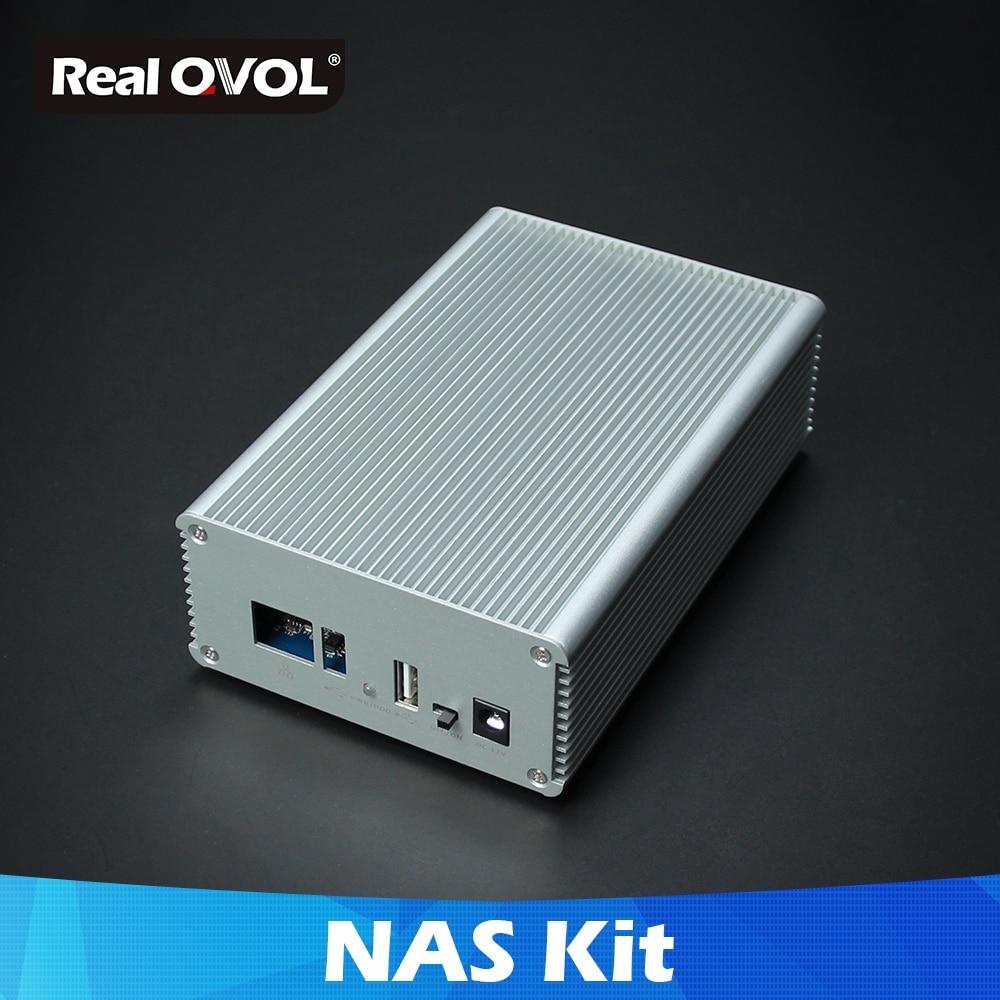 RealQvol FriendlyELEC NAS Kit Shell For NanoPi NEO/NEO2/PLUS2 Aluminum Case OpenMediaVault Ready NanoPi NEO/NEO2 Application