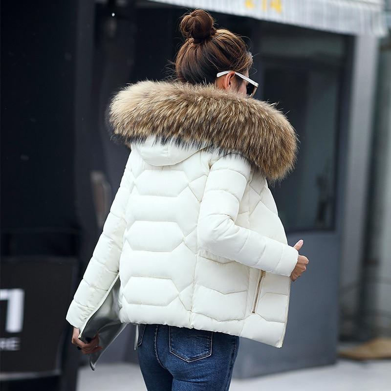 RYTISLO Autumn Winter Jacket Women Parkas for Coat Fashion Female Down Jacket With Hood Large Faux Fur Collar Coat Plus Size цены онлайн
