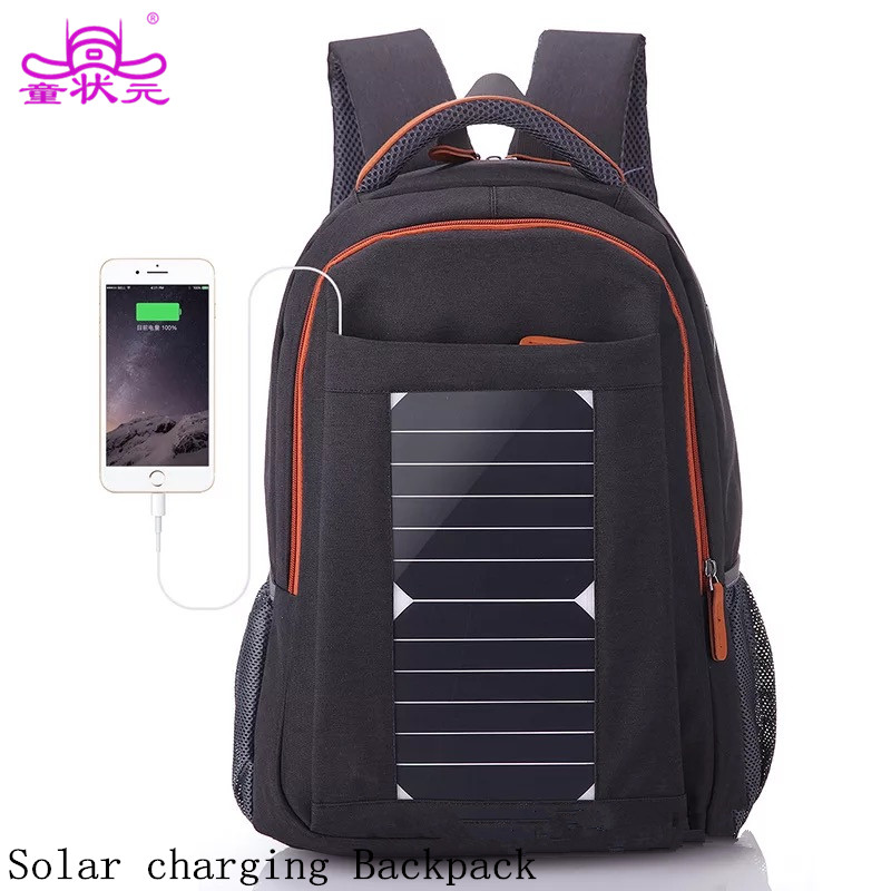 2017 The New Summer Backpack Solar Power Charger Anti Theft Backpack Waterproof Oxford Laptop Travel Bag #Except iPhone6 6plus#
