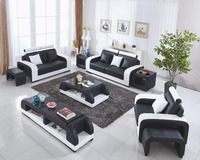 Muebles Специальное предложение Лидер продаж современный Muebles де Сала Yg мебель 2018 Гостиная 7 шт. с таблицами 321 кожаный диван