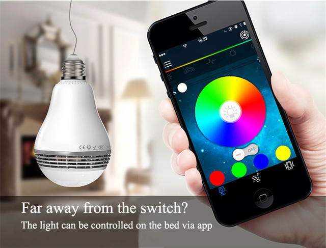 Smart Phone Controlled Led Light Bulb Bluetooth Speaker Music Player Dimmable Lamp Multi Color Changing Free Shipping