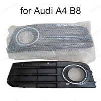 Right & Left Fog Light Lamp Cover Grille 2 pcs for Audi A4 B8 2008 2012 Auto Accessories 8K0807681A 01C 8K0807682A 01C