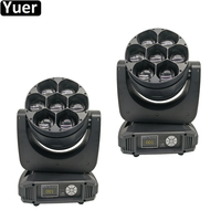 2Pcs/Lot New Zoom 7x40W Bee Eye Moving Head Light RGBW 4IN1 Beam Wash 2IN1 Moving Head Lights DMX512 For Stage DJ Disco Wedding