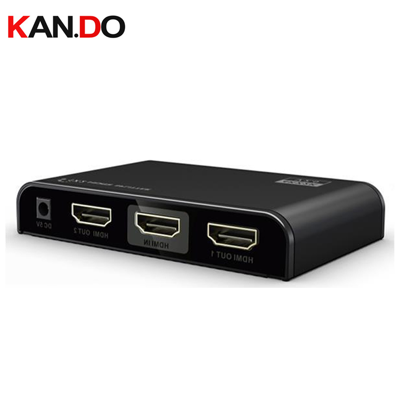 312-V2.0 Support 1X2 HDMI Splitter 4K x 2K @60Hz and 3D HDMI video splitter 2 channels HDMI splitter цена и фото