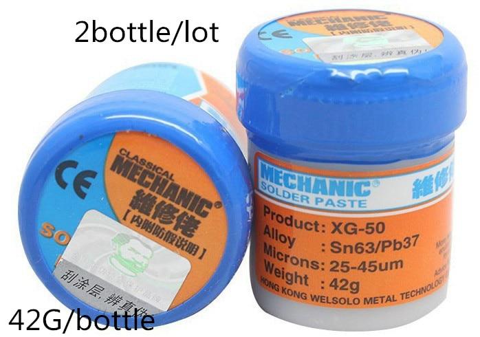 2PCS Lot MECHANIC Solder Flux Paste Soldering Tin Cream Sn63 Pb37 XG 50 XG 80 XG