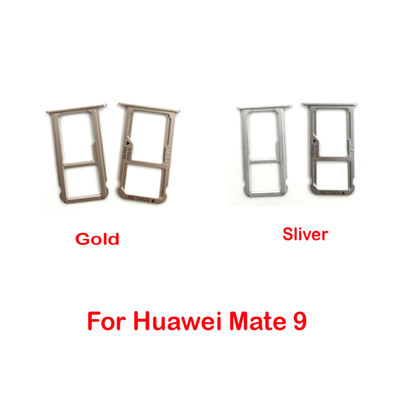 Replacement Nano Sim Card SIM Tray +Micro SD Card Holder Adapter For Huawei Mate 9 /Mate 9 Pro