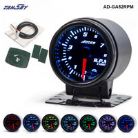 TANSKY 2 52mm 7 Color LED Car Auto Tachometer Gauge Meter Pointer Universal Meter AD GA52RPM