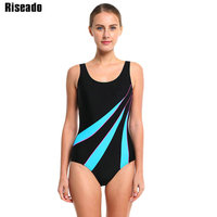 Riseado 2016 New Sexy Sport Suits Women Swimwear Swimsuit Patchwork Colored Backless Swimming Bathing Suits