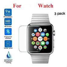 3-PACK Tempered Glass Screen Protector For Iphone Watch Series 1/2/3 42mm wearable devices smartwatch relogios reloj inteligente