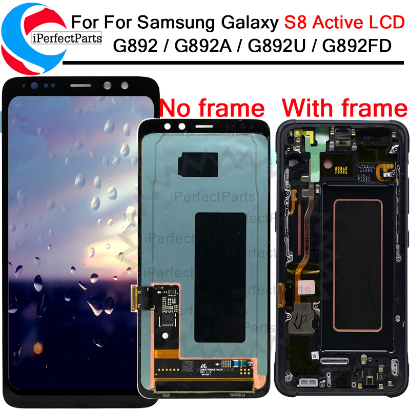 Amoled Display For Samsung Galaxy s8 Active LCD display touch screen digitizer assembly replacement For samsung