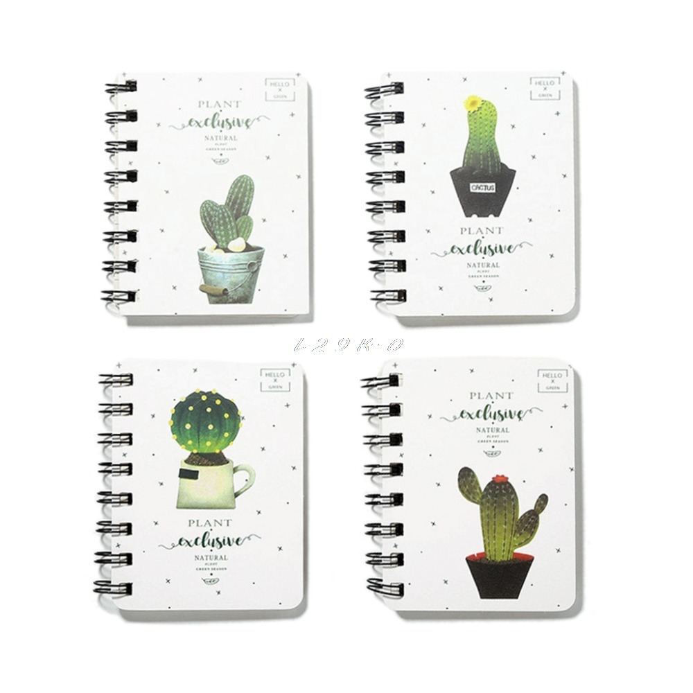 Newest Cute Cactus Daily Office Supplies Planner Spiral Notebook Diary Notepad Memo Pad L29L