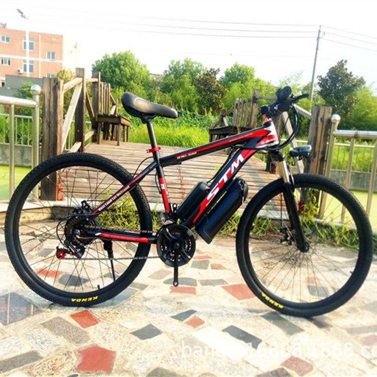 Bicicletta elettrica di alimentazione elettrica della bicicletta bollitore batteria 48V12AH500W di montagna della bicicletta 21 velocità bicicletta elettrica Russo trasporto barca