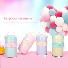 Thermoses For Food Vacuum Insulated Stainless Steel thermos Cute Double Wall Flask Heat Resistant Bottle 260ml 300ml