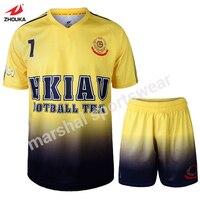 Impressão por sublimação desgaste de futebol barato personalizado de alta qualidade camisa de futebol projeto pessoal