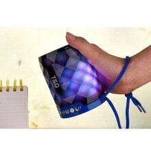 YINEW Mini LED Bluetooth Speaker Wireless Stereo FM Subwoofer Portable Column Music Colorful Light Soundbar Outdoor