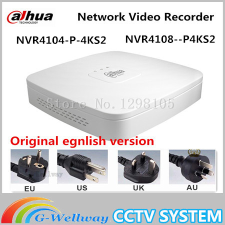Original egnlish version dahua POE NVR 4 8CH 1U 4PoE Network Video Recorder NVR4104 P 4KS2