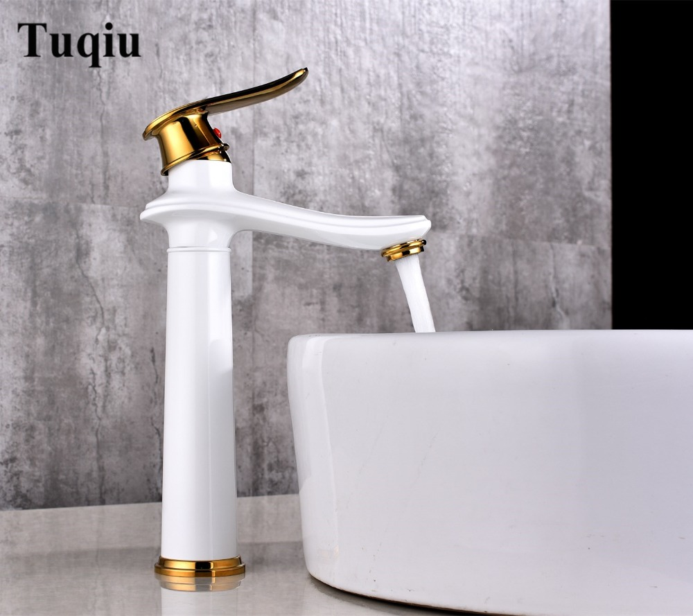 Bathroom lavatory water Faucet hot and cold Crane Brass sink mixer high Sink Faucet Single Handle basin faucet free shipping bathroom faucet antique bronze finish brass basin sink faucet single handle mixer hot and cold lavatory water taps