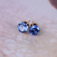 2015 Hot Brand Jewelry 14 Color Luxury Austrian Crystal Earrings For Women Gold Filled Channel Cc