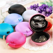Fashion Portable Mini Round Silicone Coin Purse Bag for Earphone SD Cards Cable Cord Wire Storage Key Coin Purse Wallet coin purse mano 19850 blue