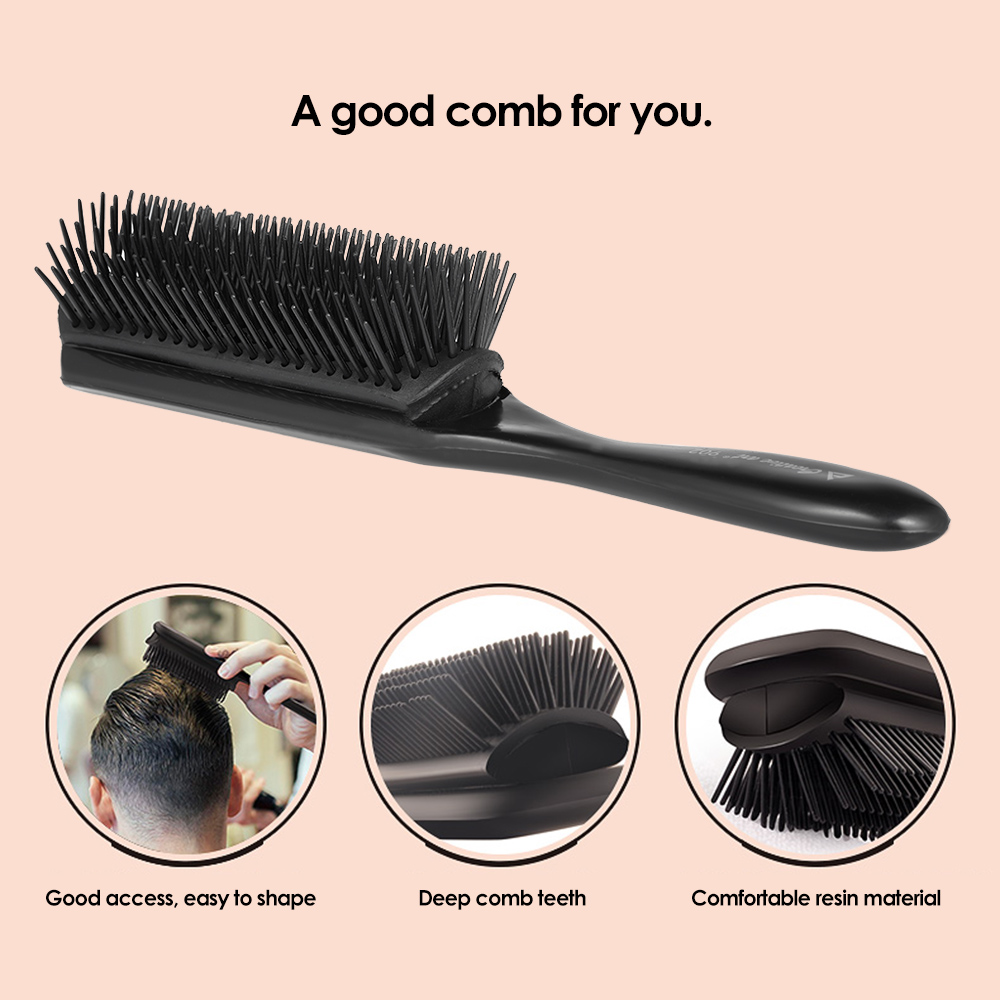 1pc Hair Comb Cushion Brush Anti-static Hairbrush 9 Rows Plastic Hairdressing Scalp Massage Hair Styling Tools Soft Comfortable