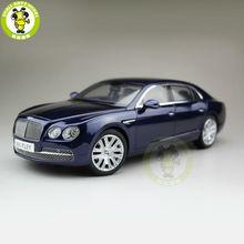 1 18 Bentley Flying Spur W12 Onyx Kyosho 08891NX Diecast Model Car Blue