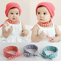 7993 1x Baby Boys Girls Bibs Saliva Towel Polka Dot Cotton Bandana Head Scarf Hot