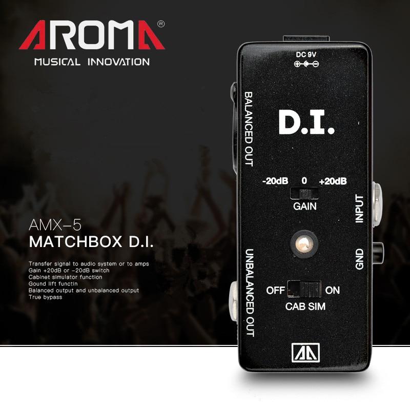 AROMA AMX-5 multifonctionnel DI box guitare électrique seul bloc effet dispositif guitare basse Signal au système Audio