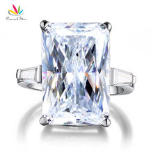 Павлин звезда 8,5 карат твердое 925 пробы Серебряное обручальное кольцо Роскошные ювелирные изделия CFR8117