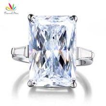Павлин Star 8.5 карат Solid стерлингового серебра 925 Свадебные Обручение кольцо Роскошные ювелирные изделия CFR8117
