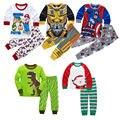 Chica nuevo Bebé Pijamas de Los Niños Conjunto de la Historieta Tops + Pants Set Ropa de Niños Pijamas de Navidad ropa de Dormir ropa de Dormir de Niño 21