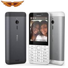 Nokia 230 разблокированный GSM 2,8 дюймов две sim-карты и одна карта 2MP QWERTY клавиатура английский Восстановленный мобильный телефон