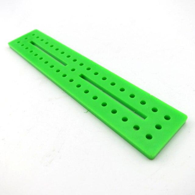 20*100 verde azul tablero ensamblado plástico bar DIY juguete marco ...