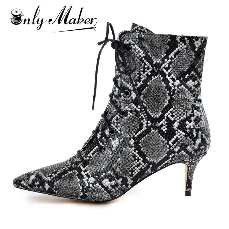 Detalle Comentarios Preguntas sobre Onlymaker mujeres gatito bajo talón  tobillo botines punta encaje cómodo caminando botas más US5 ~ US15 en  Aliexpress.com ... 0432fcc3839d