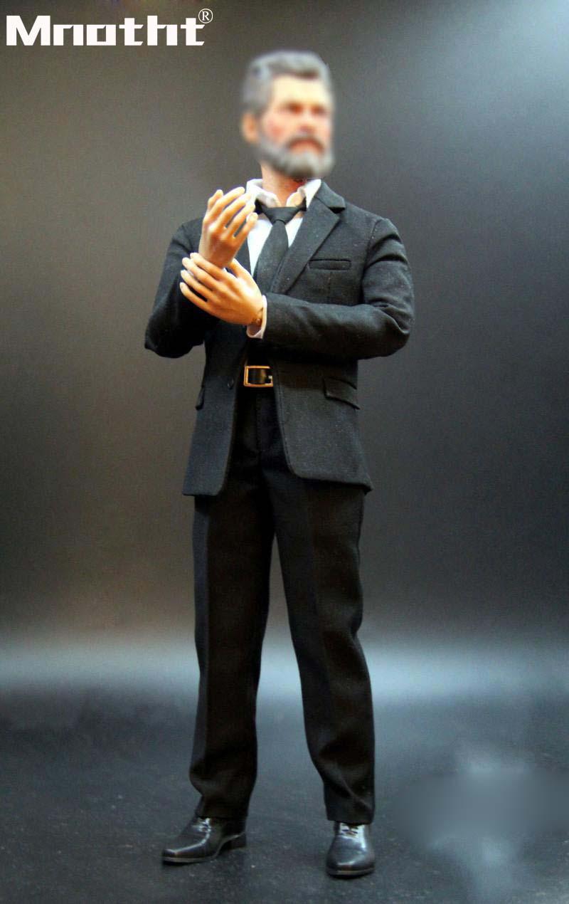 1:6 echelle Wolverine costume noir ensemble avec chemise blanche chaussures ceinture pour 12 pouces homme soldat Action Figure jouet Collection fit HT PH m5