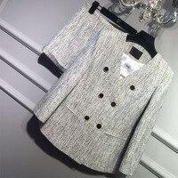Женские комплект из 2 предметов, элегантный укороченный топ и Шорты комплект твидовый пиджак + Шорты женщин костюм комплект, пользовательск