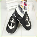 SDMOCCS Brand 27 styles Baby boy girl anchor Leather Shoes Infant boy cool black and white Soft Sole cow Shoes 0-2T