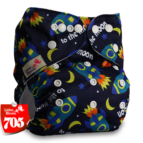 Littles& Bloomz детские моющиеся многоразовые подгузники из настоящей ткани с карманом для подгузников, чехлы для подгузников, костюмы для новорожденных и горшков, один размер, вставки для подгузников - Цвет: 705