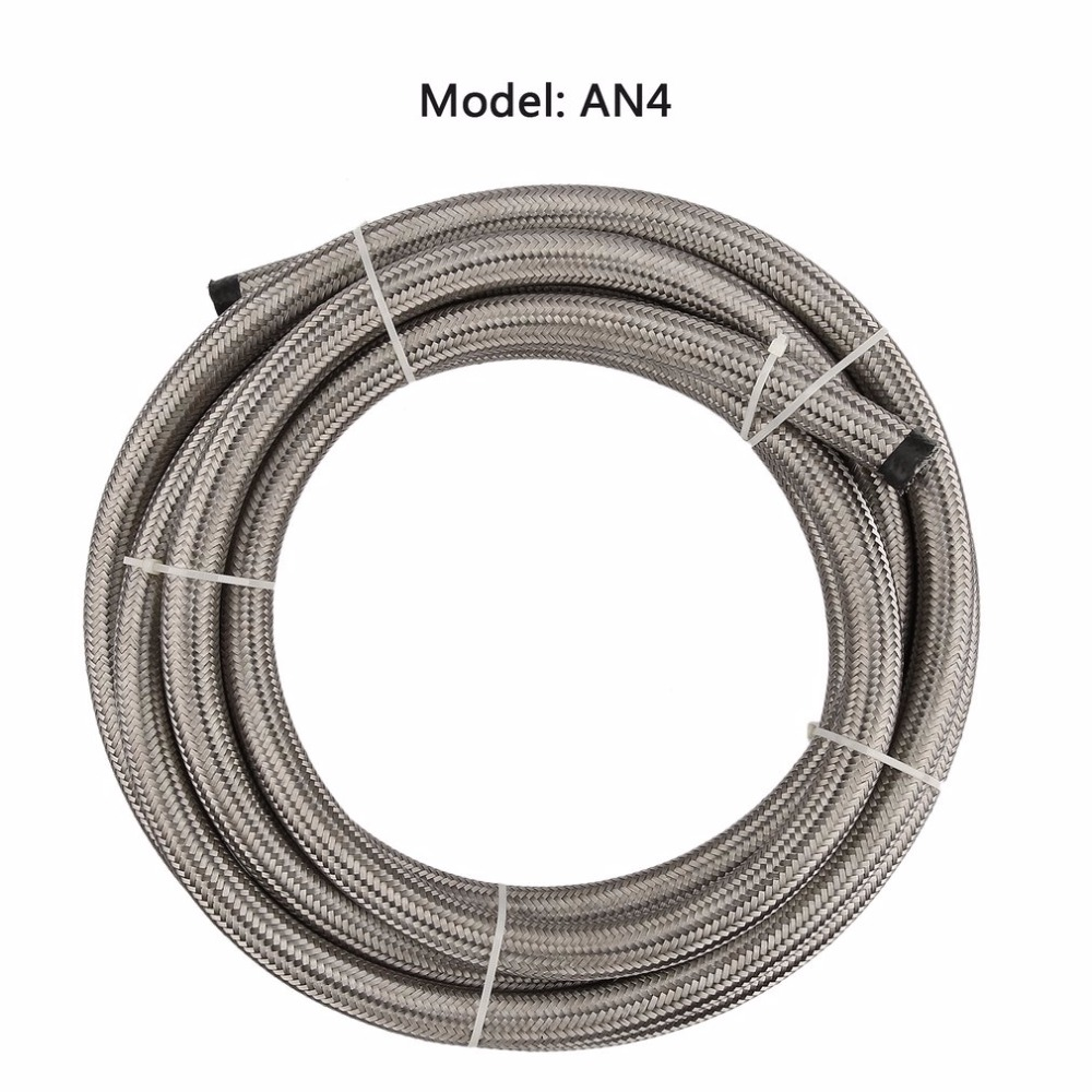 AN4/AN6/AN8/AN10 Universal Flexible Seamless 1 Meter Nylon Braided Fuel Hose  Durable Heat resistant Safe and Reliable