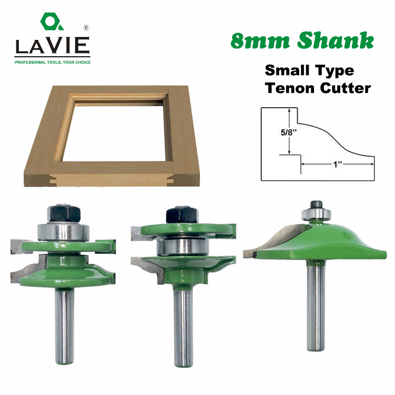 8mm Shank 3pcs Door Panel Cabinet Tenon Router Bit Cabinet Rail & Stile Set Panel Raiser Ogee Milling Cutter For Wood MC02033(China)