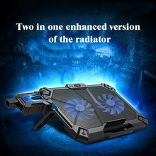 COOLCOLD Professional Laptop Cooler Pad with 2 fans Cooling Base Exhaust Heat Di